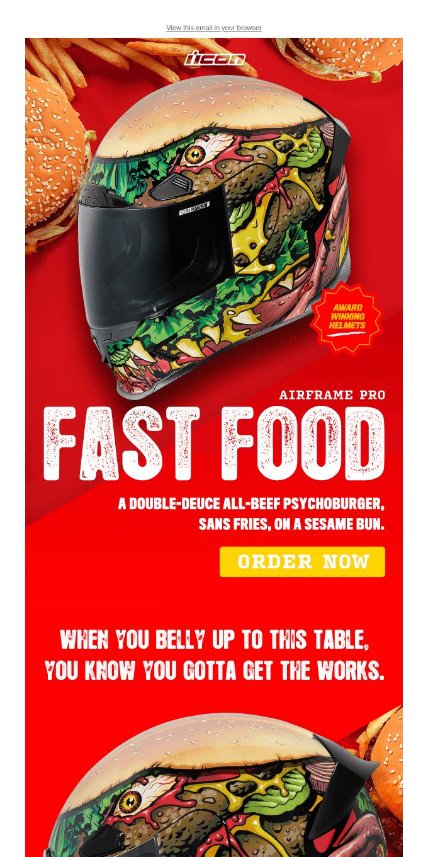 Hey Bob, Flip This! 🍔 Airframe Pro Fast Food Helmet