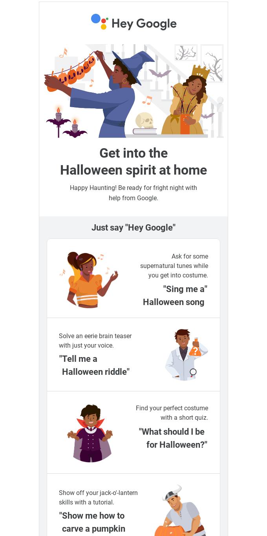 Hey Google, happy Halloween 🎃