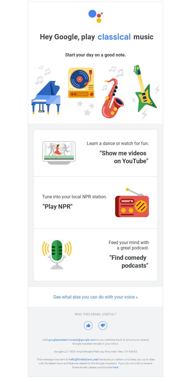 Hey Google, play music 🎵