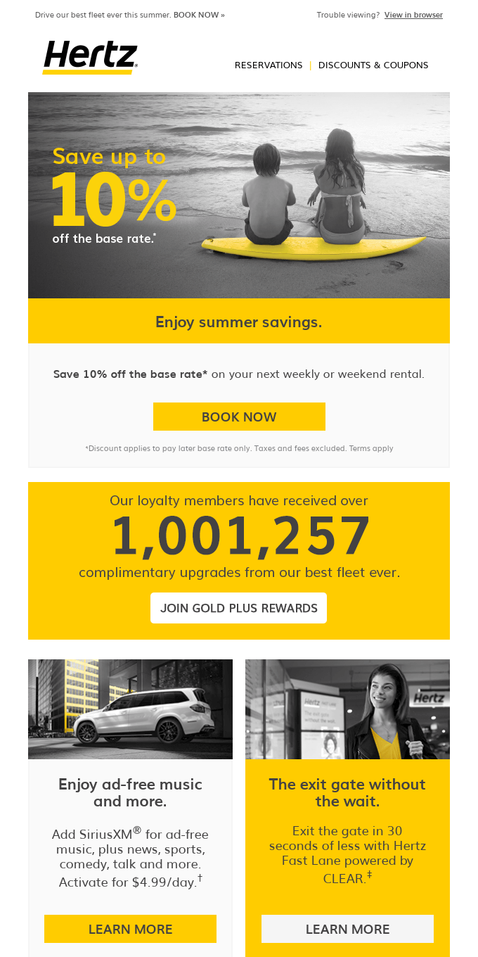 🚦H️it the summer road with Hertz & save 10% off the base rate