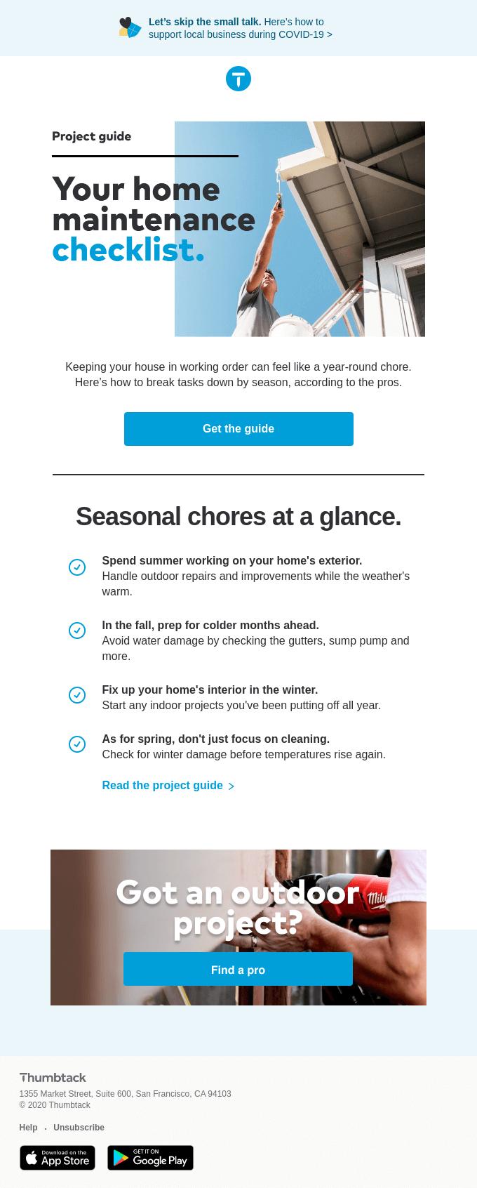Home maintenance by the season