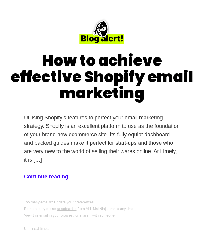 How to achieve effective Shopify email marketing