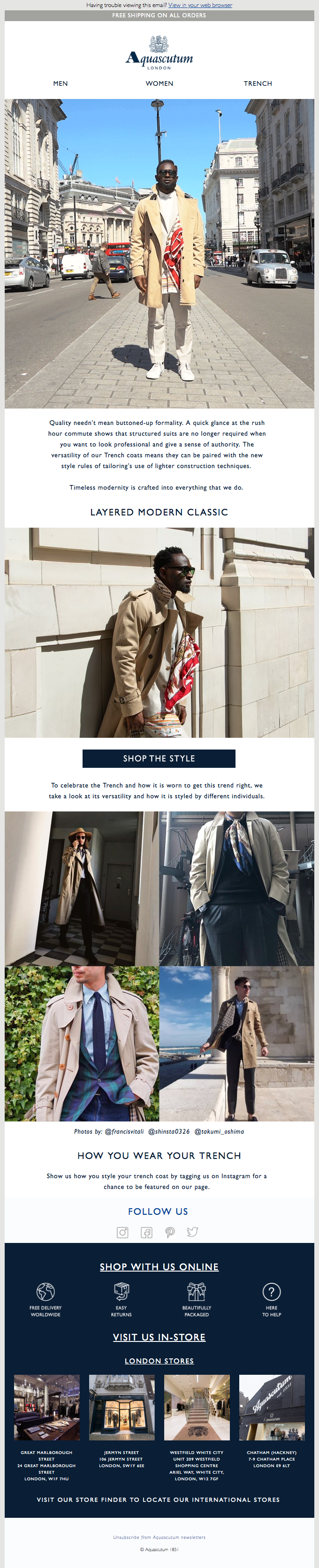 How To Style A Trench | Layered Modern Classics