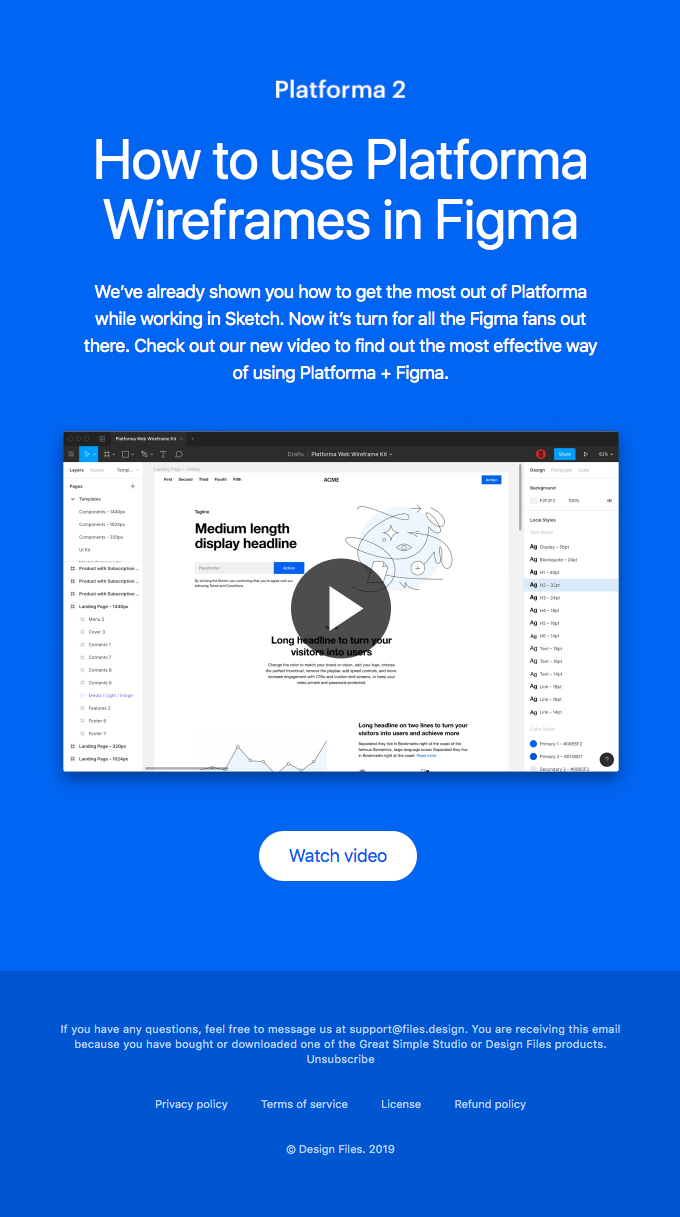 How to use Platforma in Figma