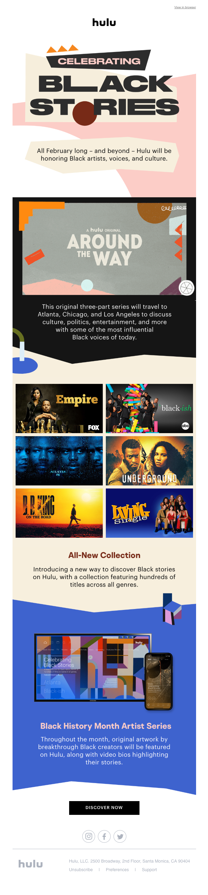 Hulu Celebrates Black History Month