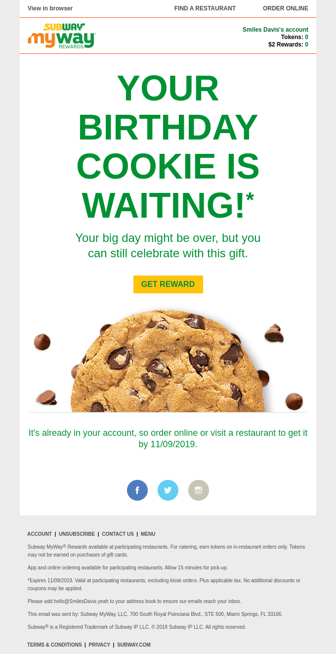 Hurry, your birthday cookie is going to crumble soon…