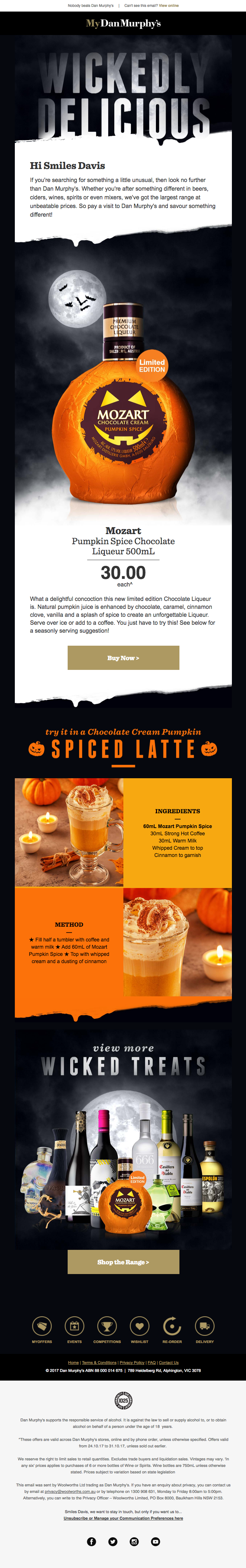 Hi Smiles Davis – 🎃 Treat yourself to Mozart's Chocolate Cream Pumpkin Spice Liqueur, at the lowest price!