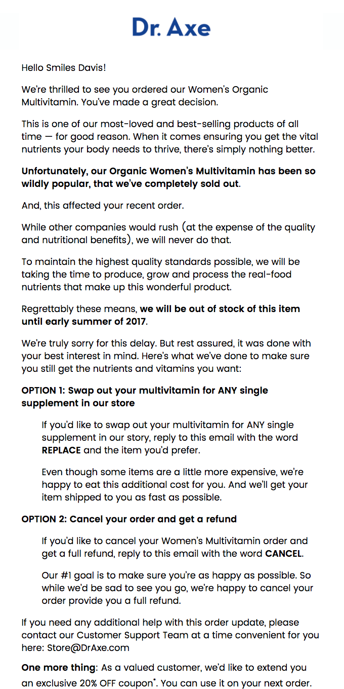 Important Details About Your Multivitamin Order