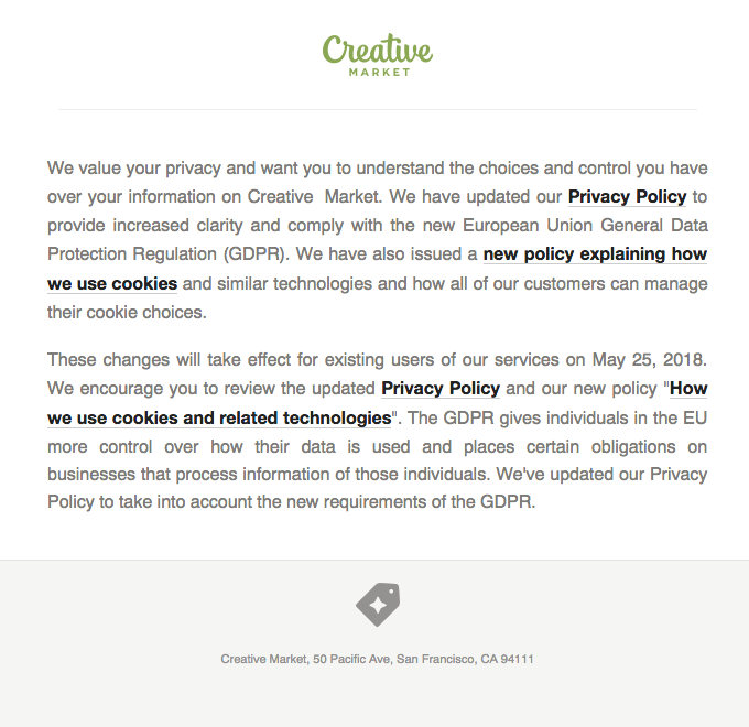 Important Updates to Creative Market's Privacy Policy
