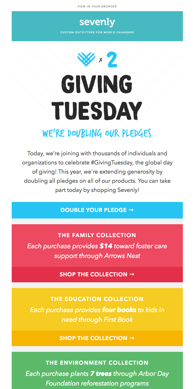 In honor of #GivingTuesday, we're DOUBLING OUR PLEDGES!