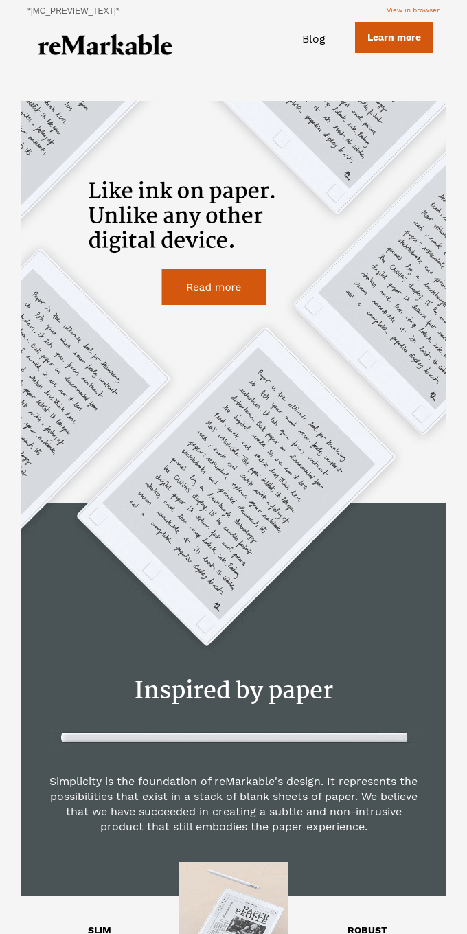 Inspired by paper, developed for you.