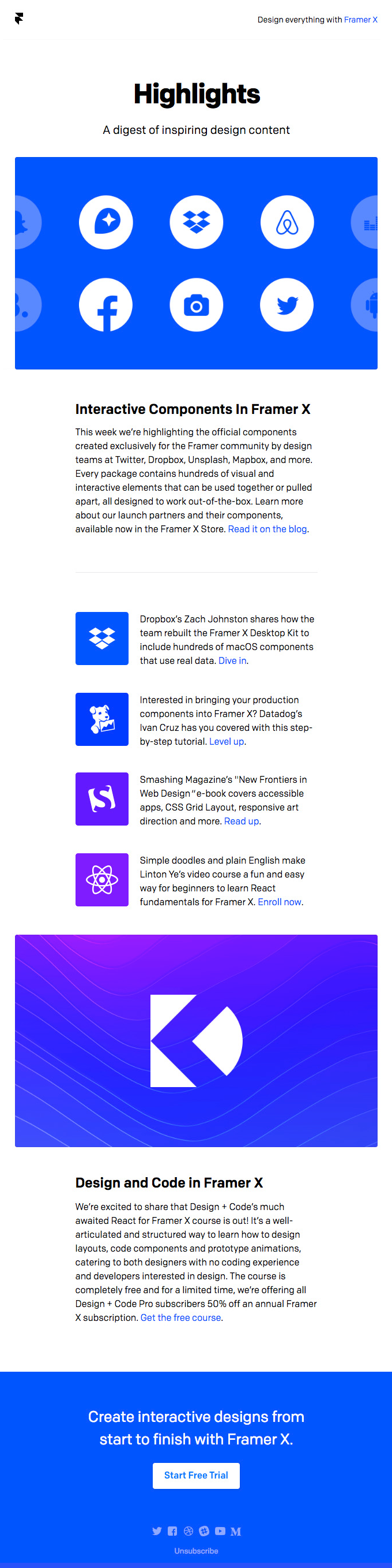 Interactive Components Made By Top Design Teams & Framer X React Courses