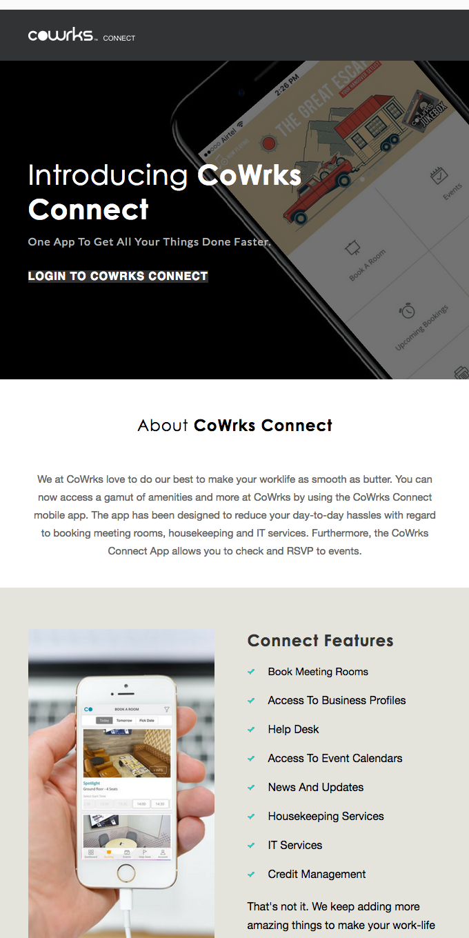 Introducing CoWrks Connect