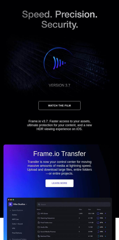 Introducing Frame.io v3.7