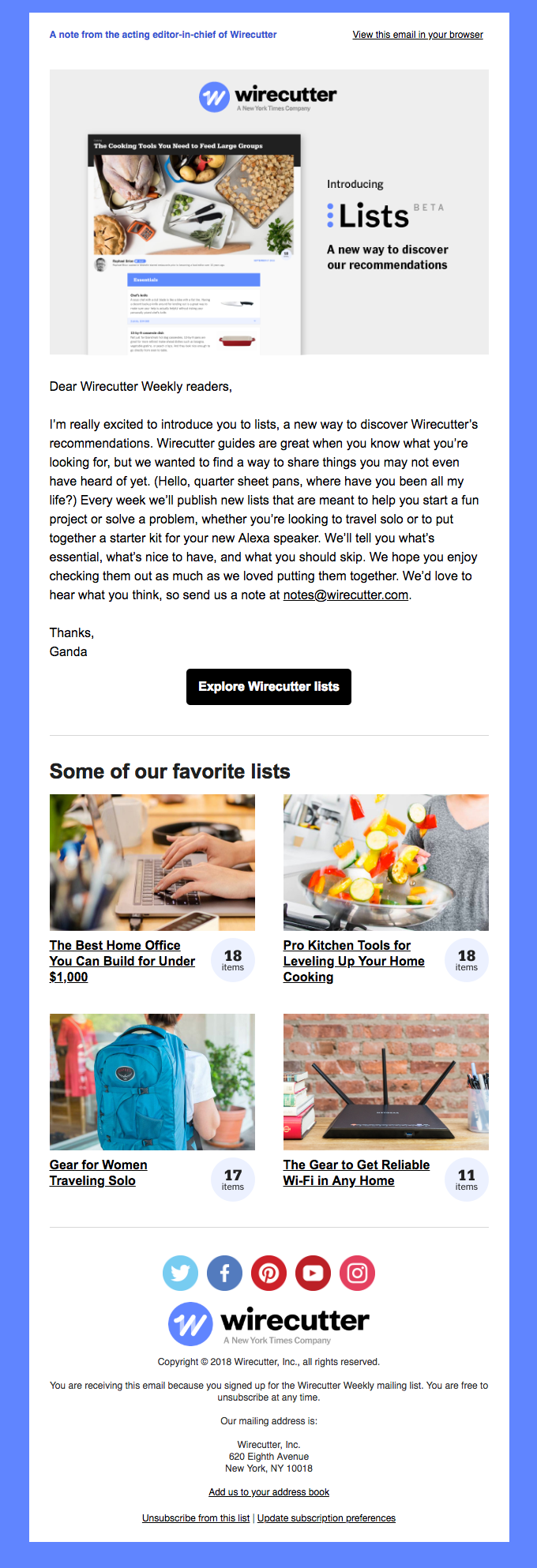 Introducing Lists: A note from the acting editor-in-chief of Wirecutter