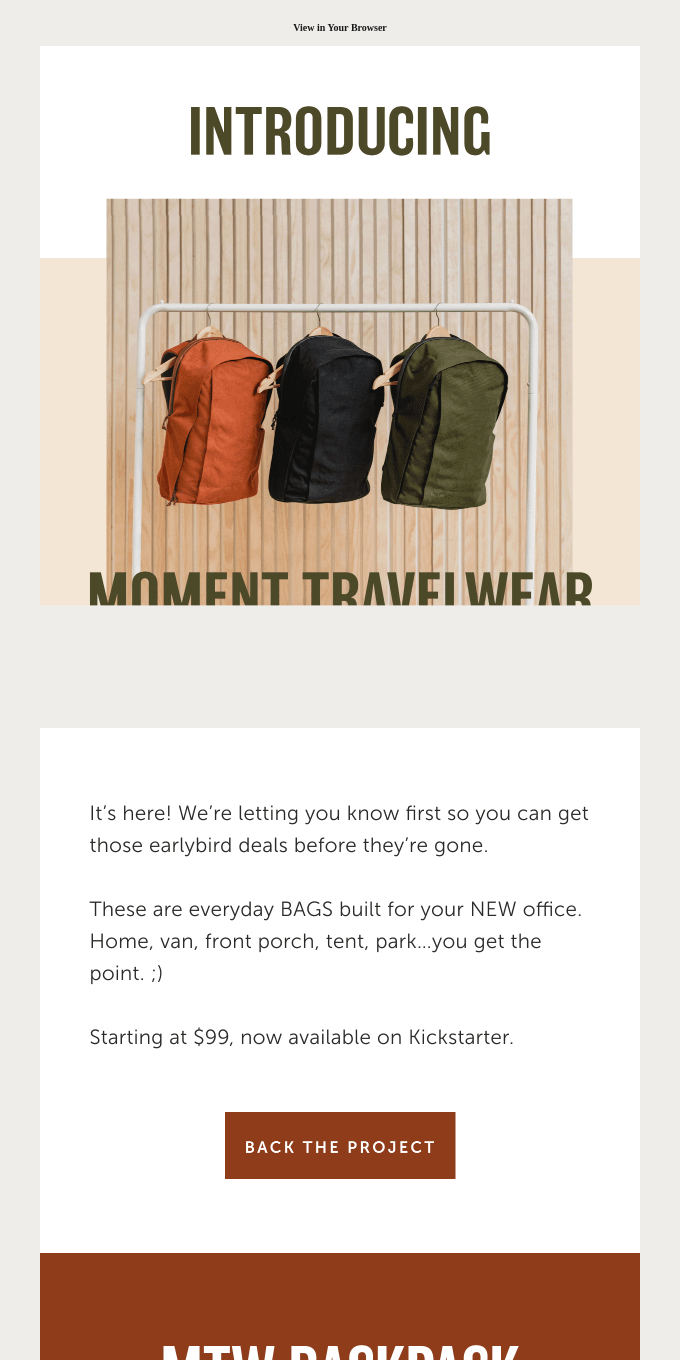 Introducing… Moment Travelwear