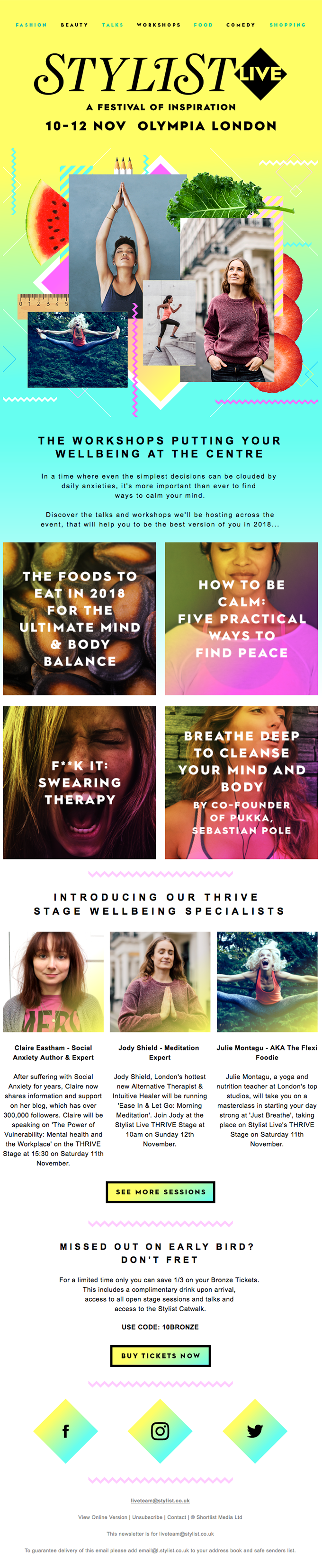 Introducing our wellbeing line up.