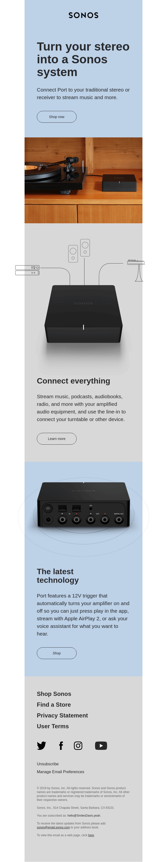 Introducing Sonos Port