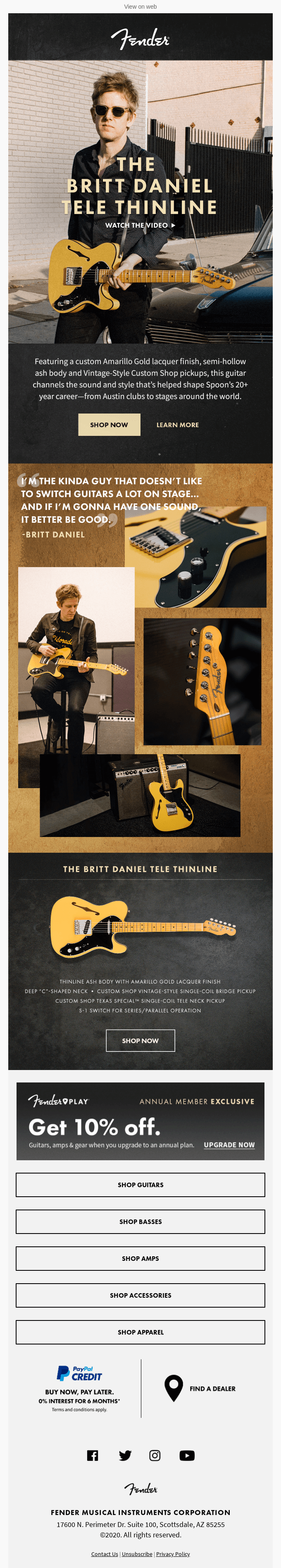 Introducing The Britt Daniel Tele Thinline