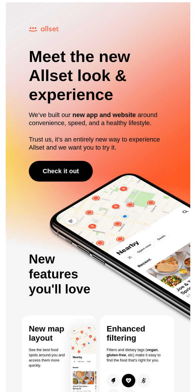 Introducing the new Allset app