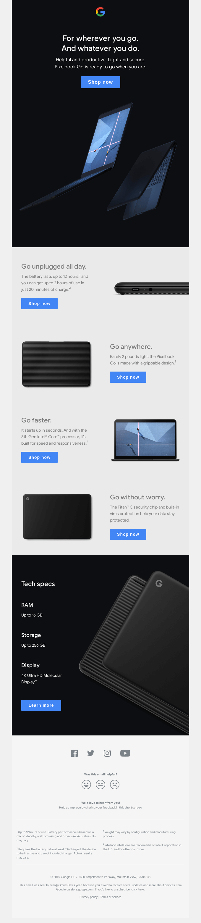 Introducing the new Pixelbook Go