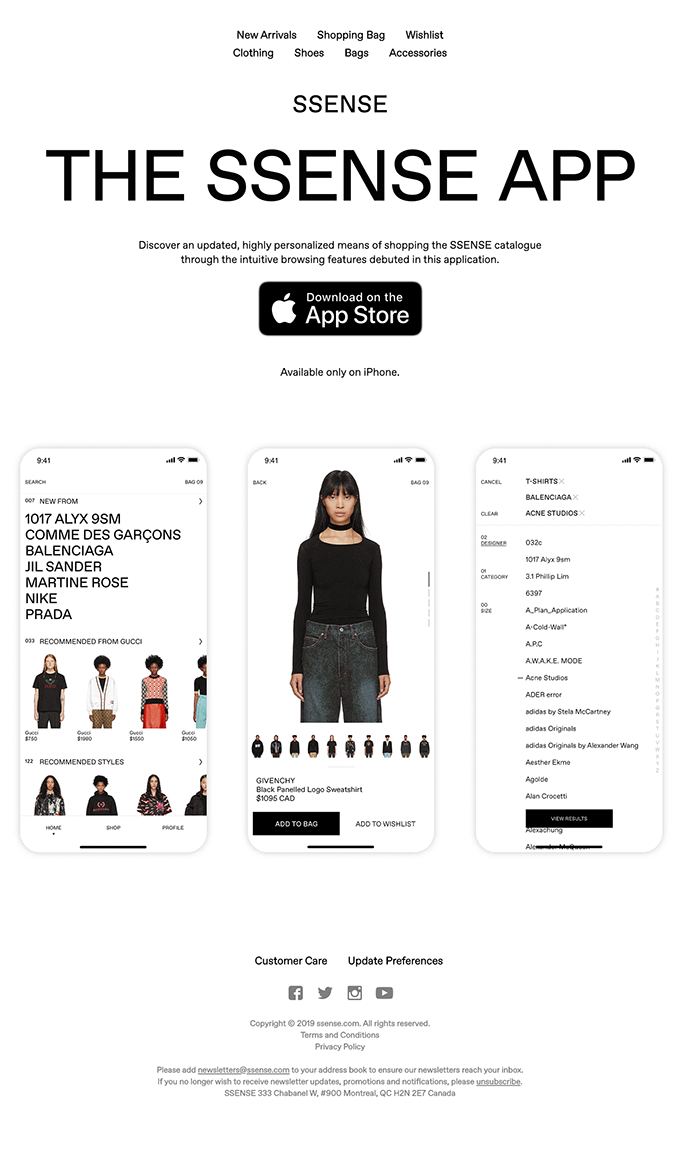 Introducing The SSENSE App