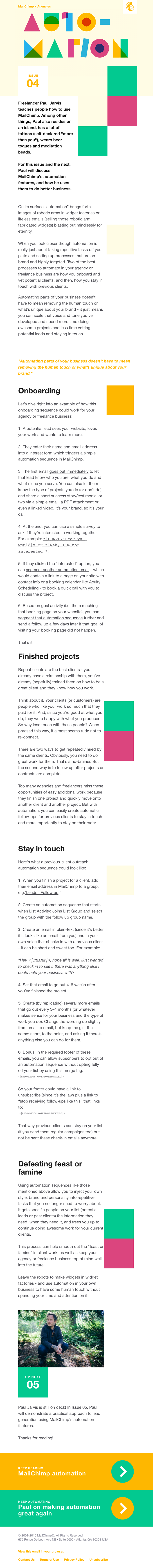 Mailchimp Emails on Really Good Emails