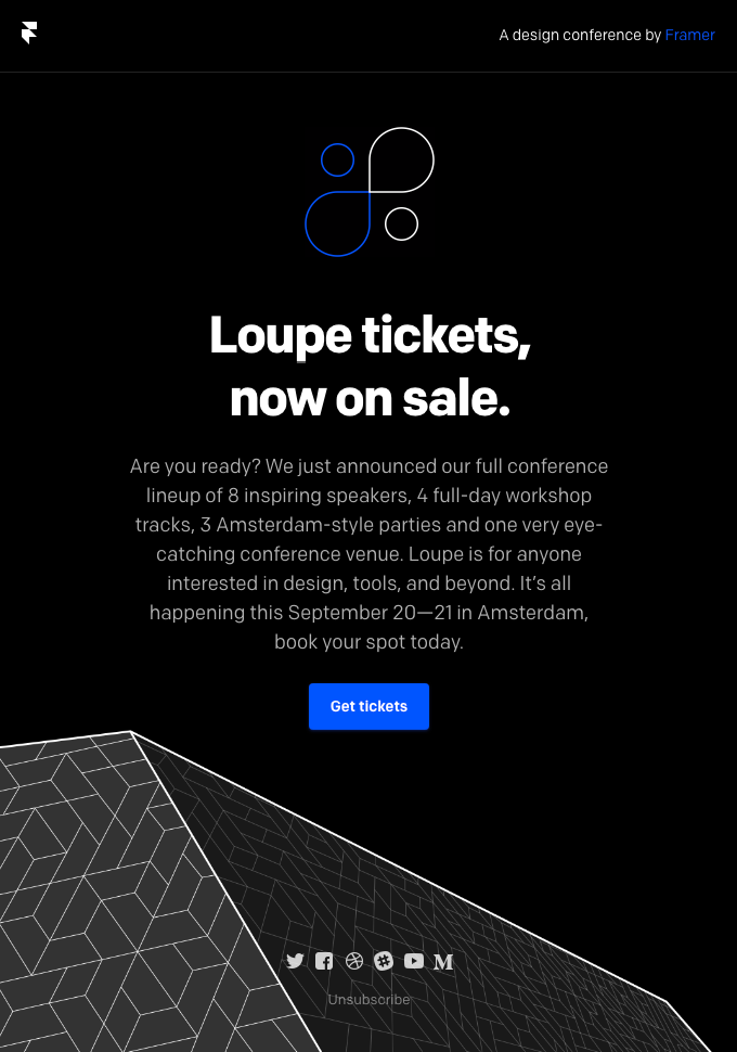 It's Here — Our Full Loupe Conference Lineup