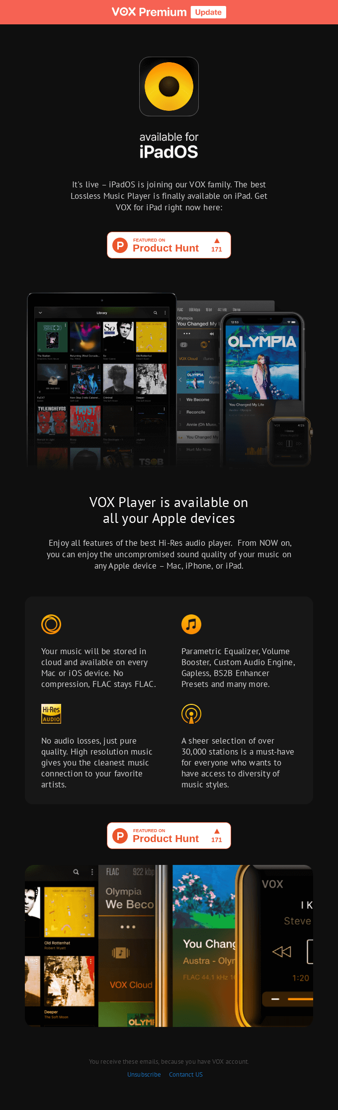 It's here. VOX for iPadOS. Try it now!