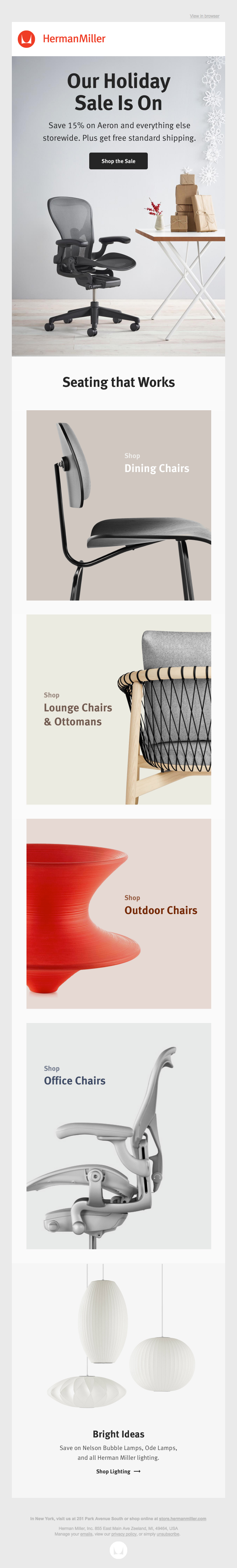 It's On: Save 15% Storewide at the Herman Miller Holiday Sale