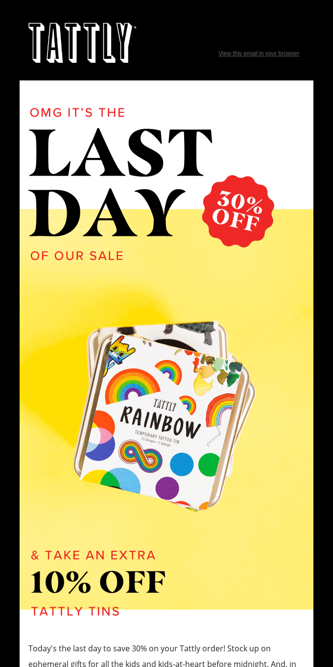 It's the last day to save 30%!