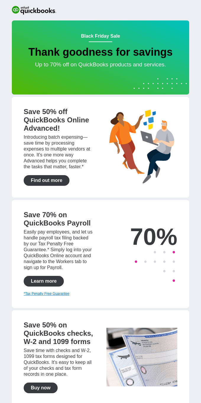 It's time to save big on QuickBooks