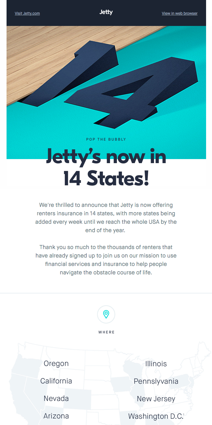 Jetty's in 14 States!