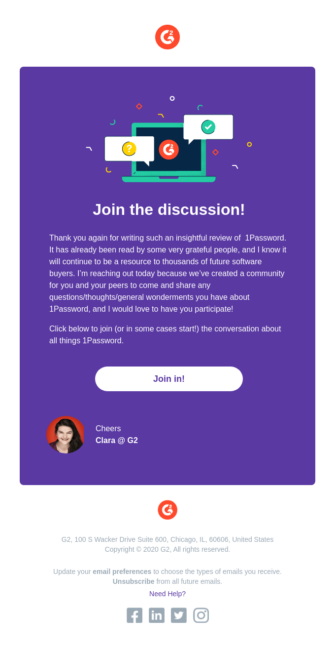 Join the 1Password conversation!