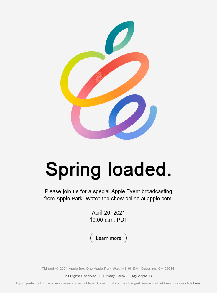 Join us for a special Apple Event.
