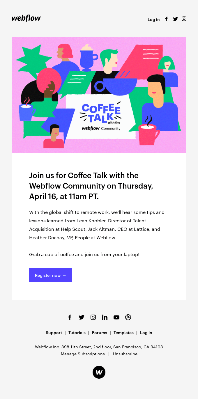 Join us for Coffee Talk: remote work tips