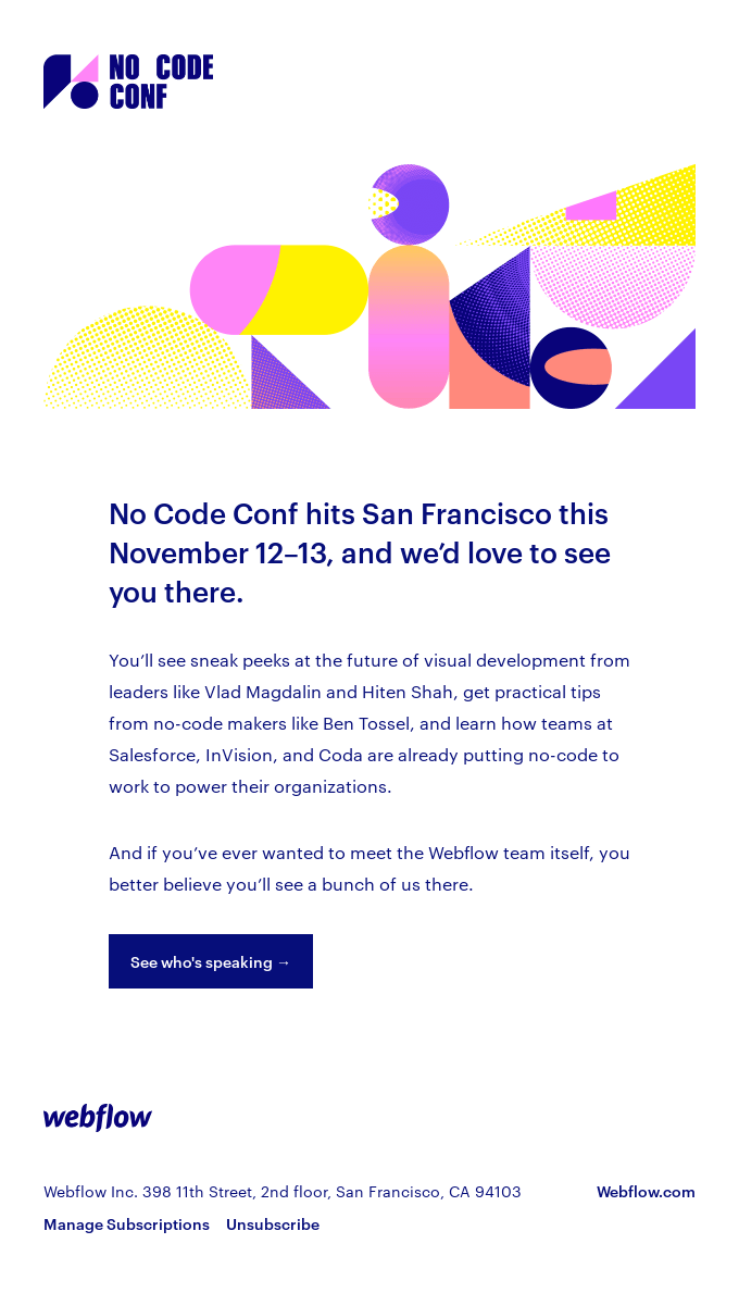 Join us for No Code Conf this November