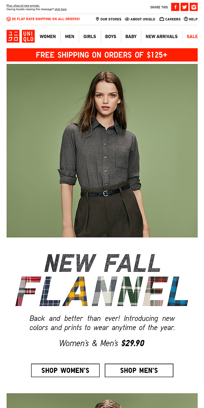 Just In! New Fall Flannel.