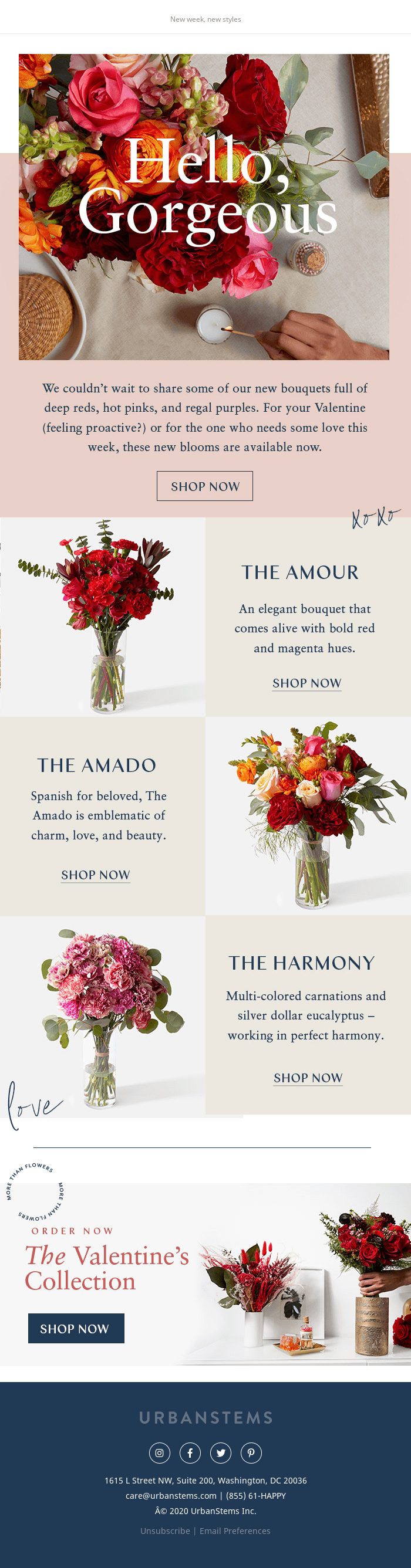 Just launched: New bouquets