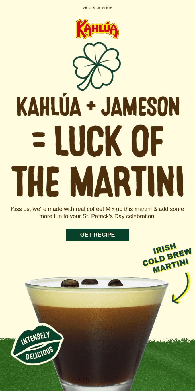 Kahlúa + Jameson = One ☘️ EPIC ☘️ drink