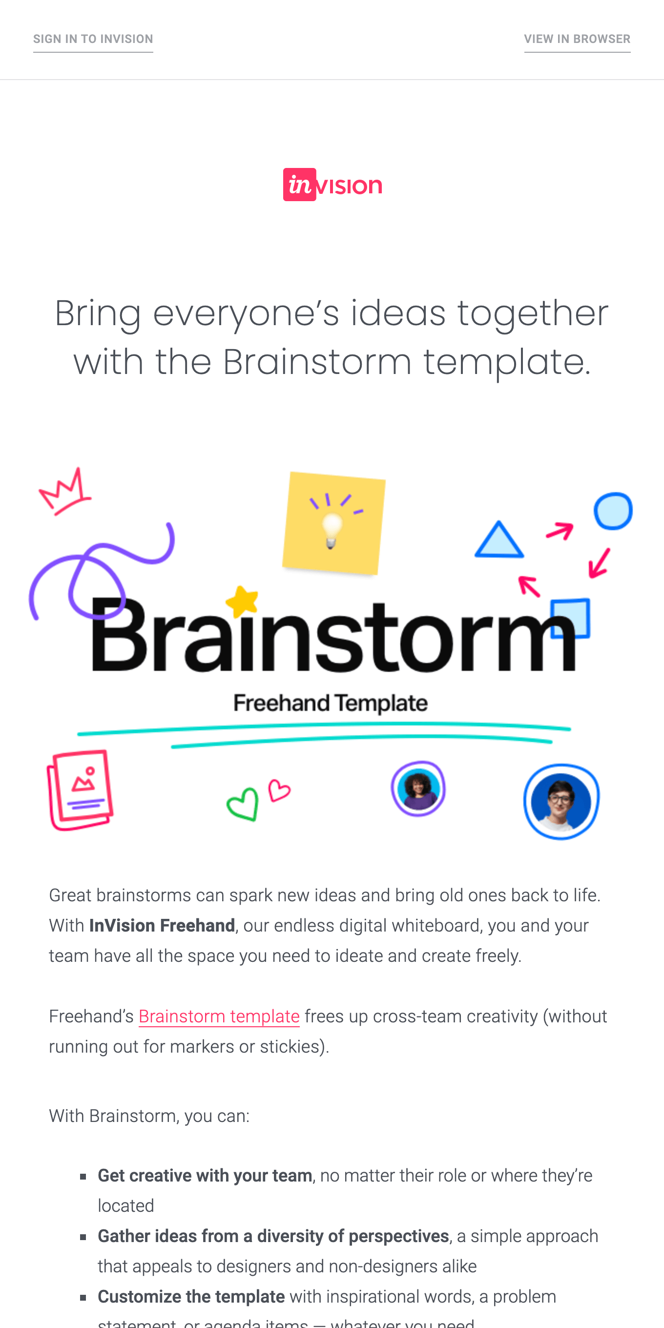 Kick off team brainstorms with Freehand