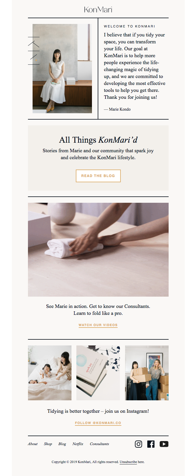 KonMari English Mailing List: Subscription Confirmed