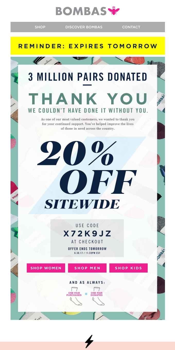 Last Chance: A 20% Off Thank You