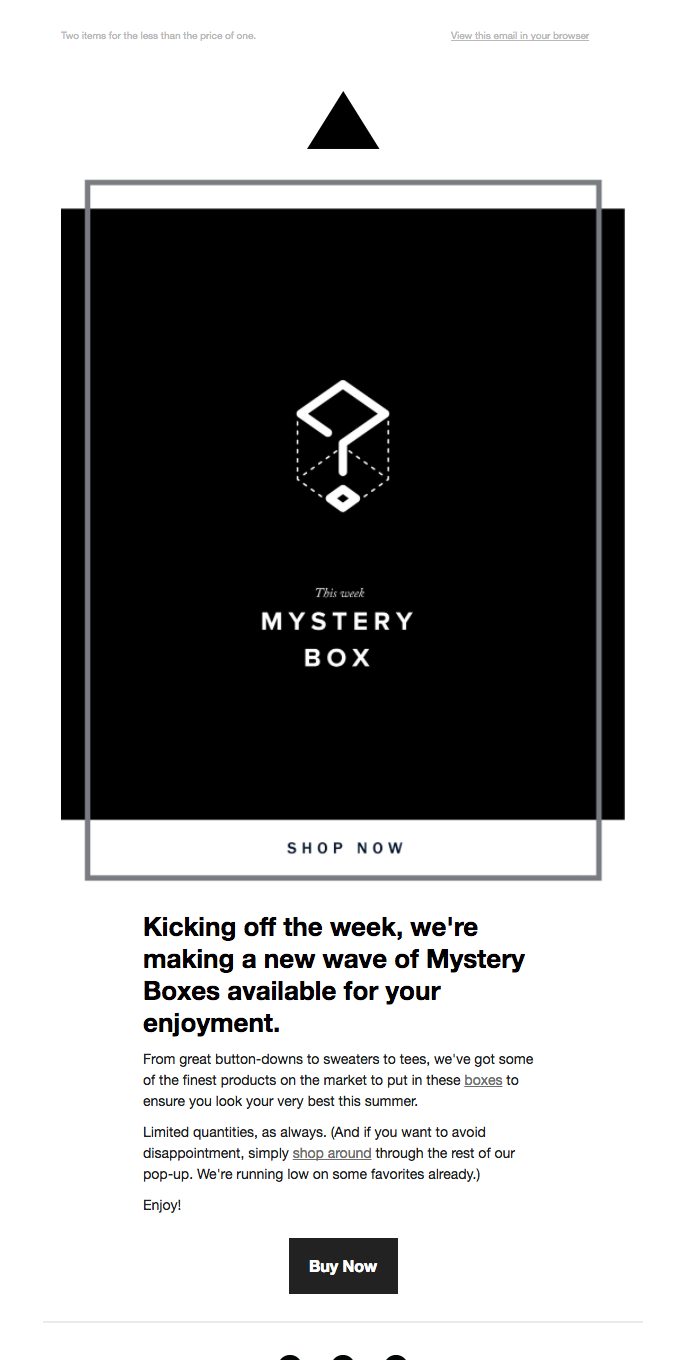 Last Chance to Get Your Mystery Box
