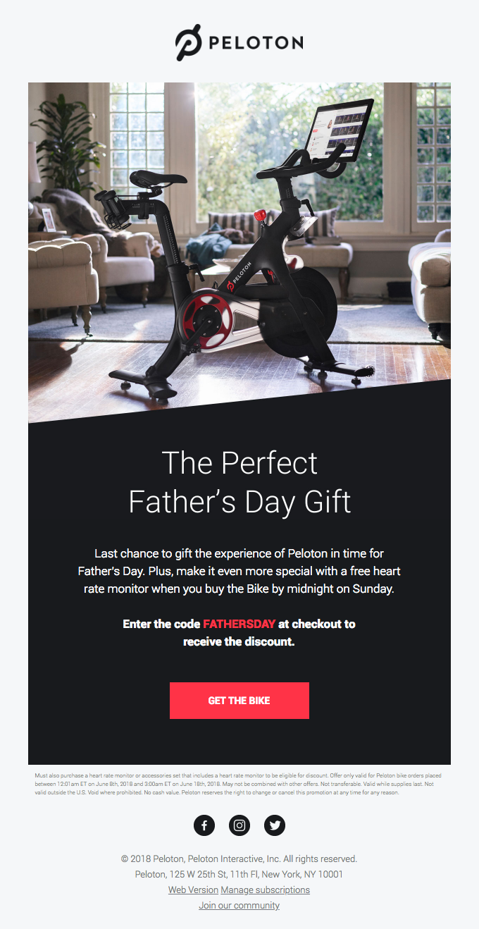 Last Chance To Gift Dad the Peloton Bike