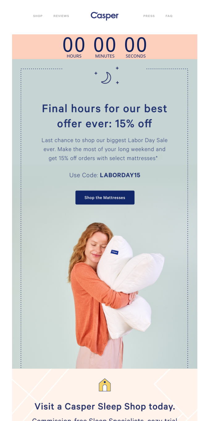 Last day: Save 15% with our best offer ever.