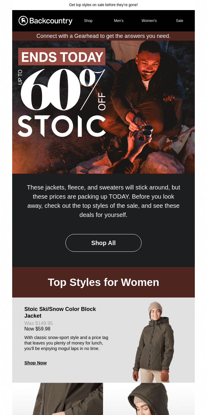 Last Day to Save up to 60% on Stoic