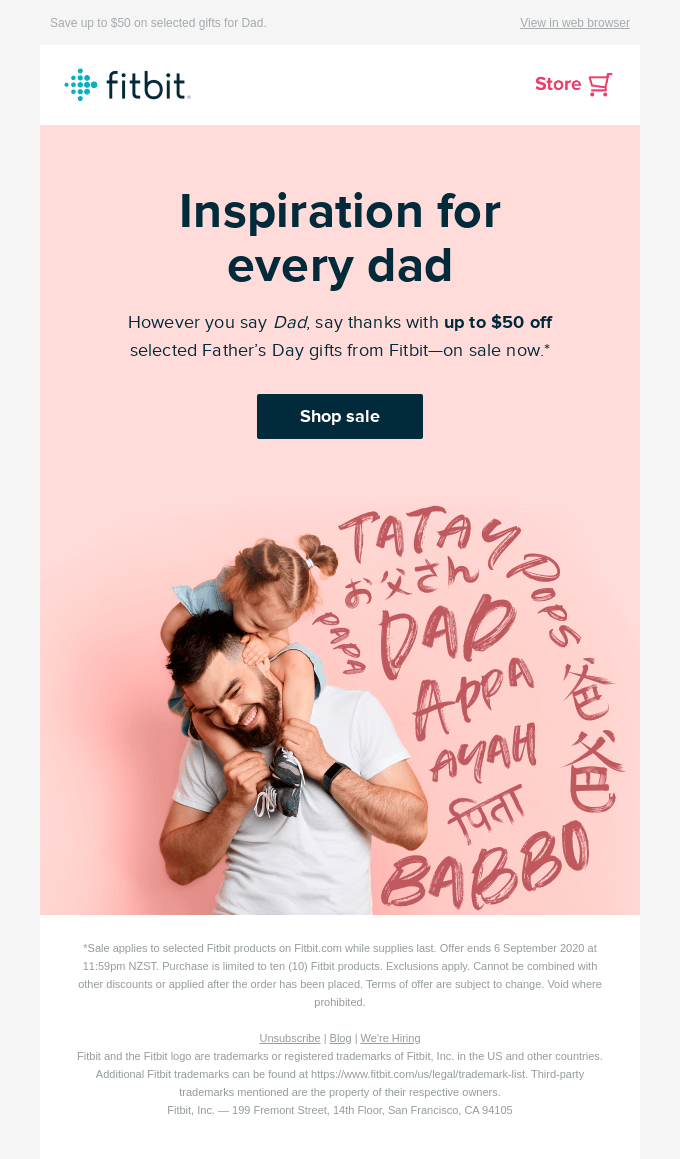Let the Father's Day Sale begin!