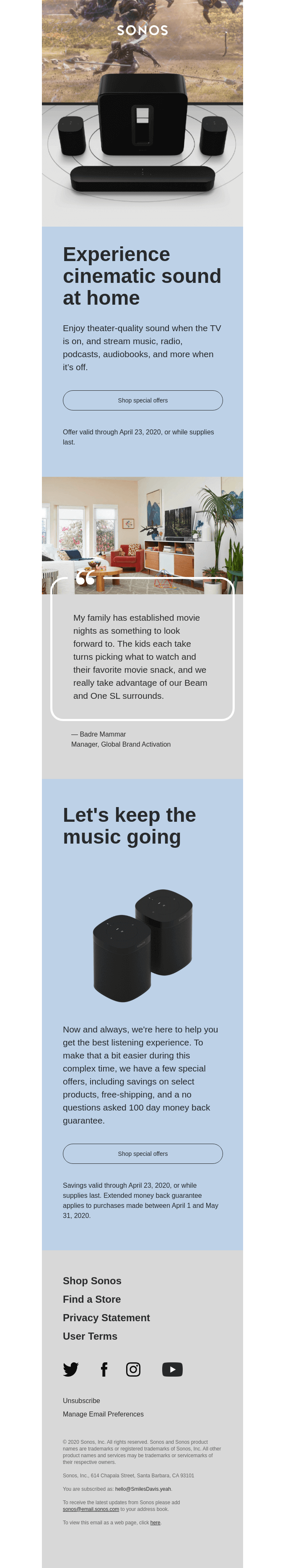 Let's keep the music going