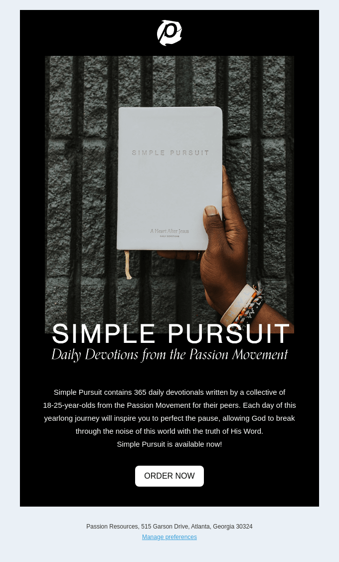 Live for What Matters Most - Simple Pursuit is Available Now!